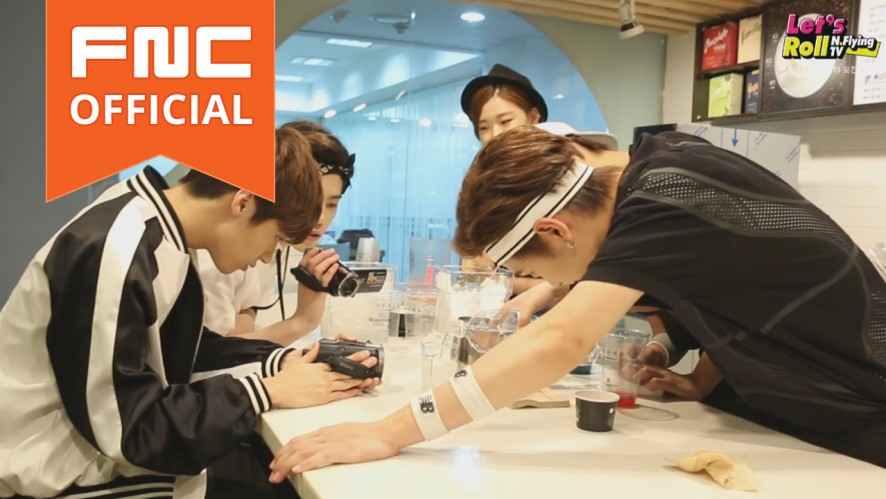Let's Roll! N.Flying - ep3. Chu~! 4 baristas for kissday