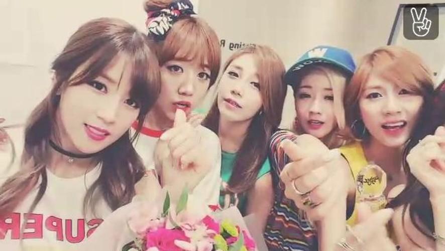 Apink Broadcast (뮤직뱅크 1위!)