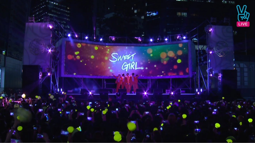 [V] B1A4 Guerrilla concert  - SWEET GIRL+YOU ARE A  GIRL I AM A BOY LIVE