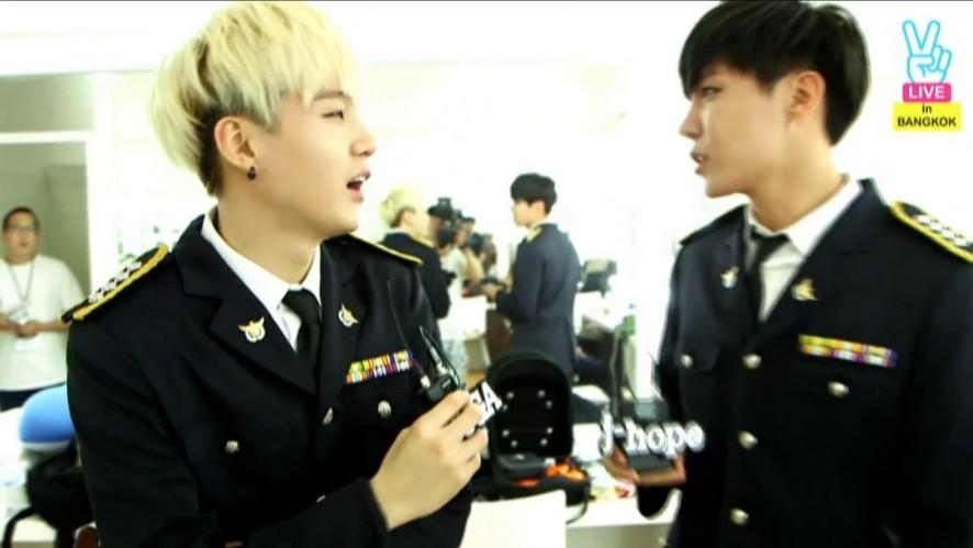 [LIVE] BTS Thailand concert backstage (1) Interview