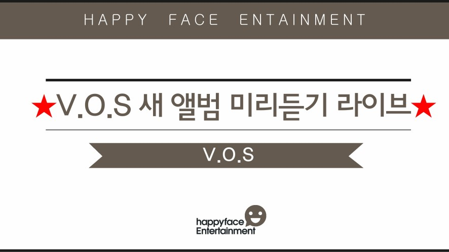 V.O.S NEW ALBUM PREVIEW LIVE!  V.O.S 새 앨범 미리듣기 라이브!
