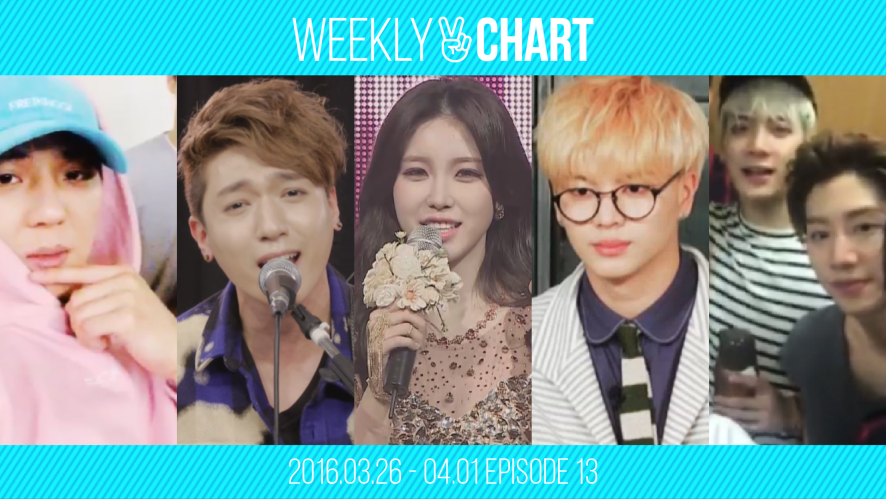 [WEEKLY V CHART] 2016.3.27- 4.1 EPISODE