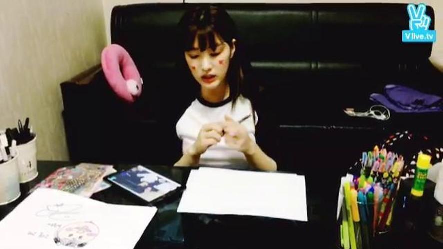 [라붐] 율희의 돼지🐷 그리기