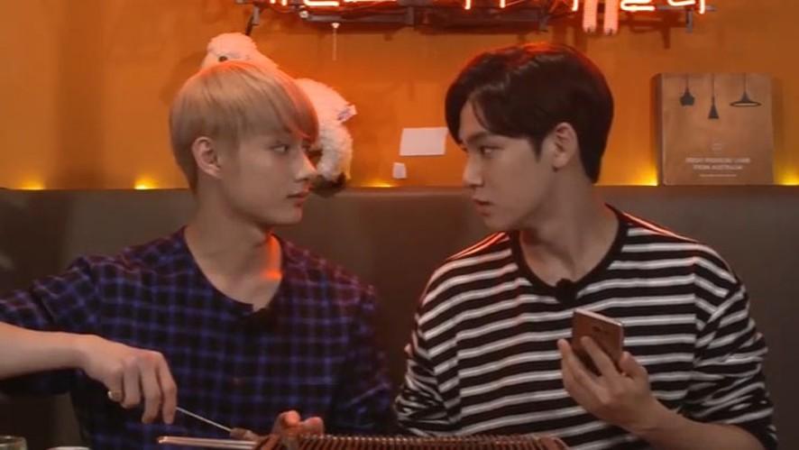 [SEVENTEEN] 5959 잘 먹네😊(Jun&Mingyu eating lamb skewers)