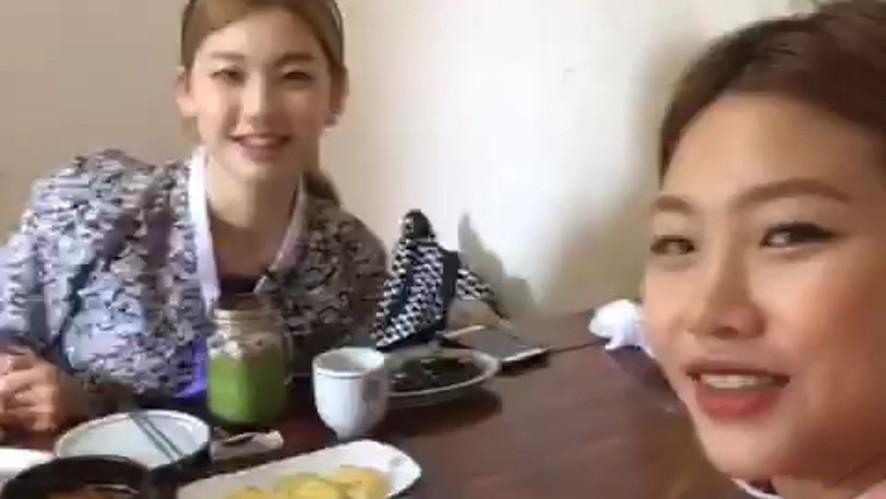 [매떠여 시즌2] Kim jin kyung, Jung ho yeon/ 김진경, 정호연 탑모델의 먹방 셀프캠!!