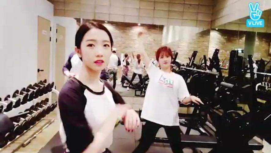 [WJSN] 운동뽐뿌 오게 하는 소정이와 미기ೕ(•̀ᴗ•́) (EXY&MEI QI working out)