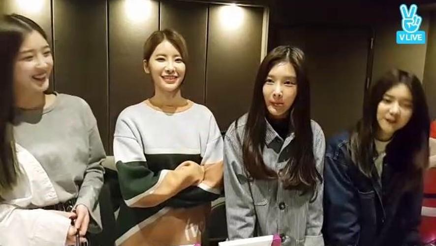 다이아 콘서트 B조 자작곡 녹음현장