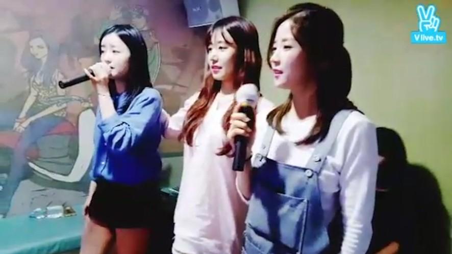 [Apink] 흥에 듬뿍 취한 에핑이들(Apink being excited in the karaoke)
