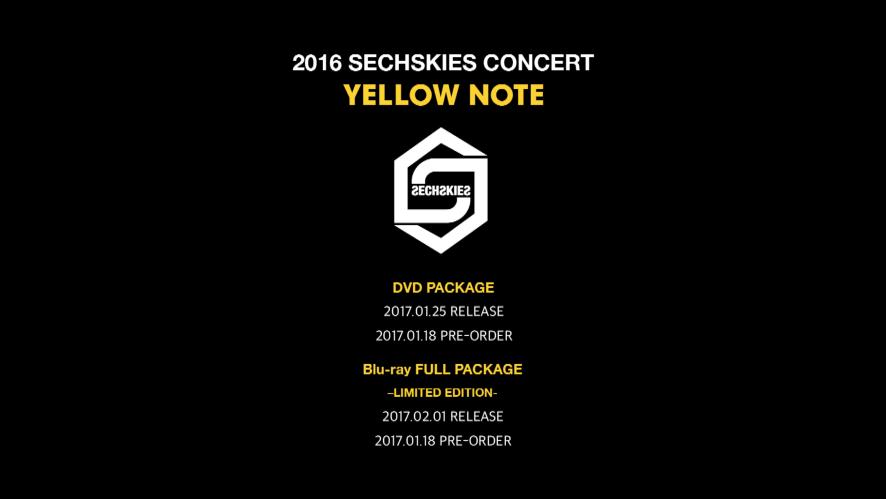 2016 SECHSKIES CONCERT <YELLOW NOTE> LIVE DVD & Blu-ray