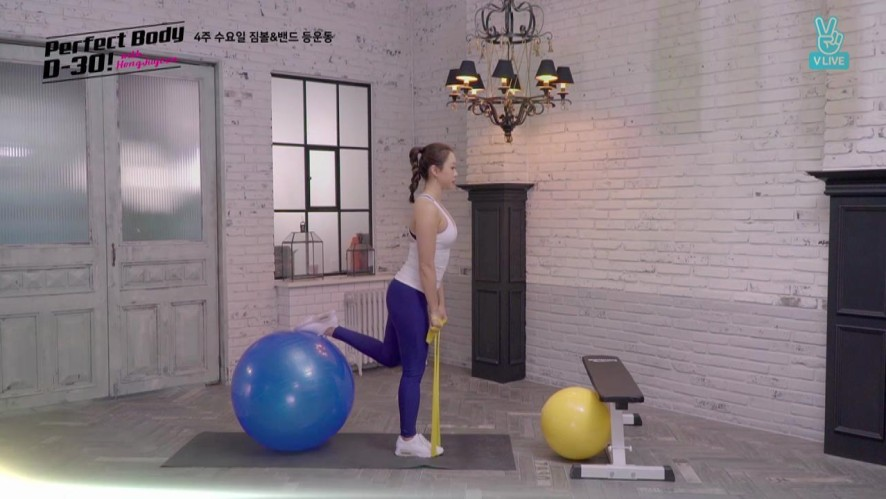 [Perfect Body D-30 with 홍주연] 4주 수요일 짐볼&밴드 등 운동 D-5 Gymball and Band Exercises for Back