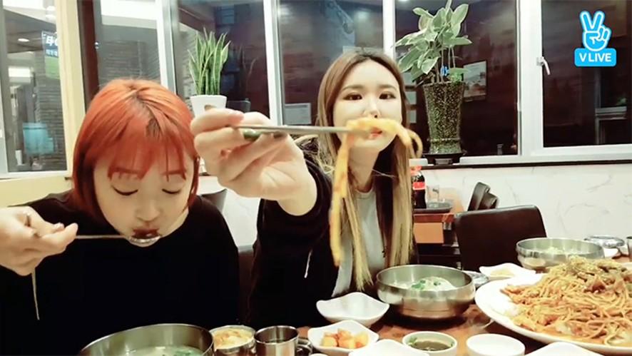 [EXID] EXID의 먹방극장 🍴🎬  (EXID eating Daegu-tang)