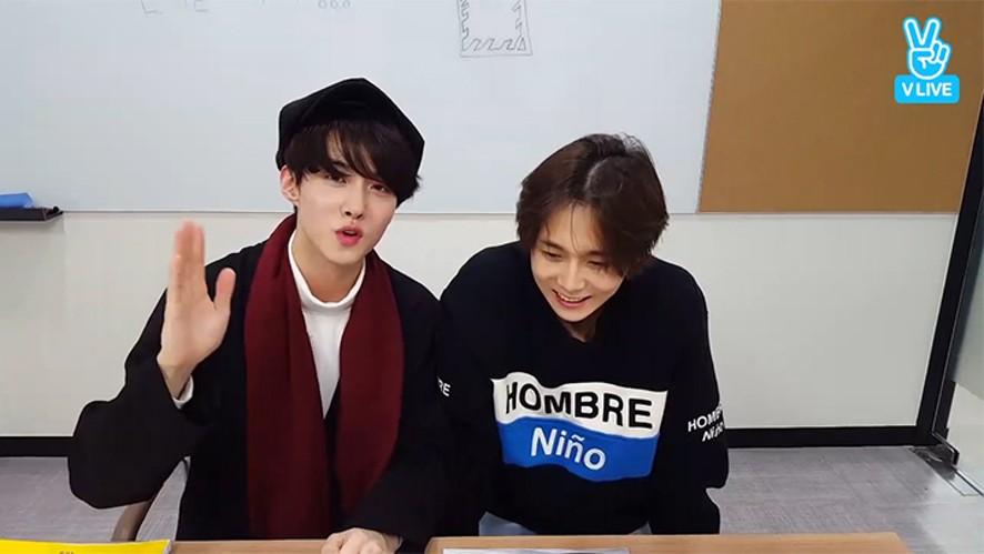 [PENTAGON] 더니와 여워니의 운전 면허 필기시험 내기😝  (Edawn&Yeoone studying for driving test)