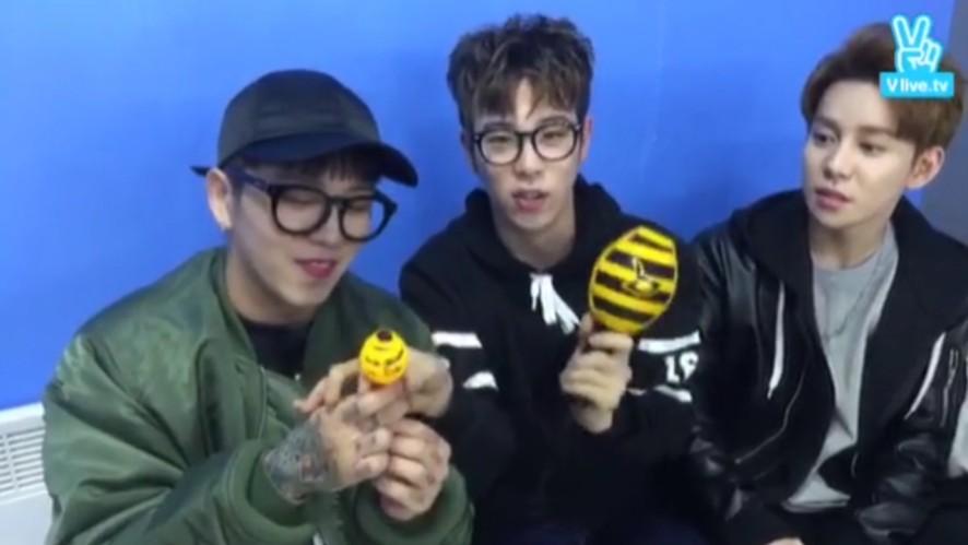 [1년 전 오늘의 Block B] 🐝초카와이한 기냥 꿀봉과 미니 꿀붱🐝 (Block B talking about their Concert MD)