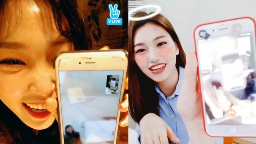 [Chung Ha][i-Teen Girls] 알코홀과 도꼼이의 본격 동시방송✌️ (Do Yeon and Chung Ha having a video call on V live)