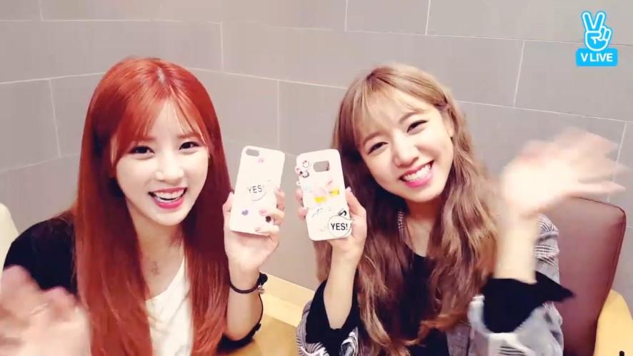 [Apink] 롱쥬의 폰케이스 꾸미기 좋~아아아아! (Chorong&Namjoo decorating phone case)