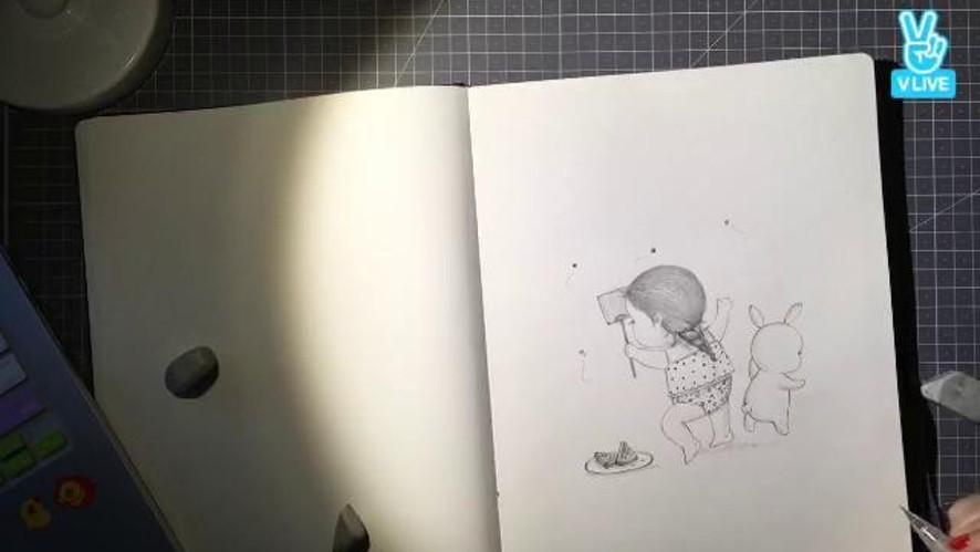 마음에 그려요. draw in your mind