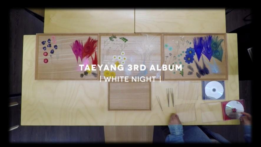 TAEYANG - 'WHITE NIGHT' PRESSED FLOWER COVER MAKING FILM