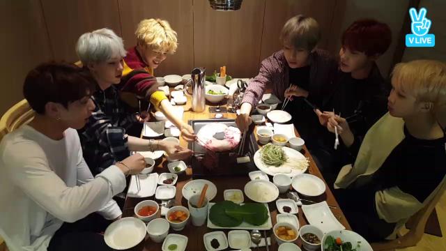 BTS 빌보드 수상🏆공약! 먹방 라이브🍴