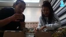 [제이블랙&마리] 팬들의 성원에 어쩔수없는 먹방♡