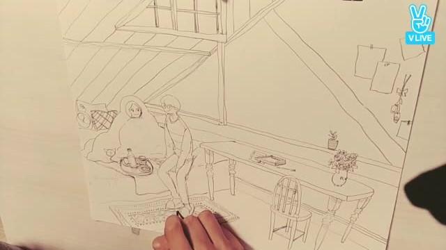 잠 못드는 이들을 위한 드로잉 방송 (Puuung Live drawing)