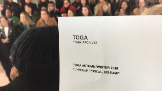 [London Fashion Week] TOGA Show - LFW Women's AW 18