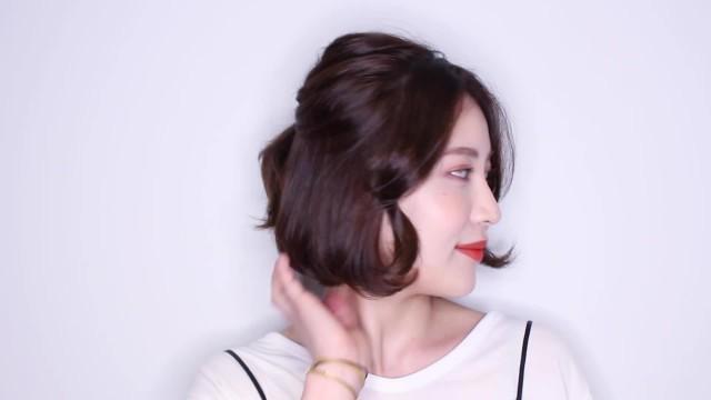 [1분팁] 단발머리를 위한 반묶음 Half Ponytail for Short Hair