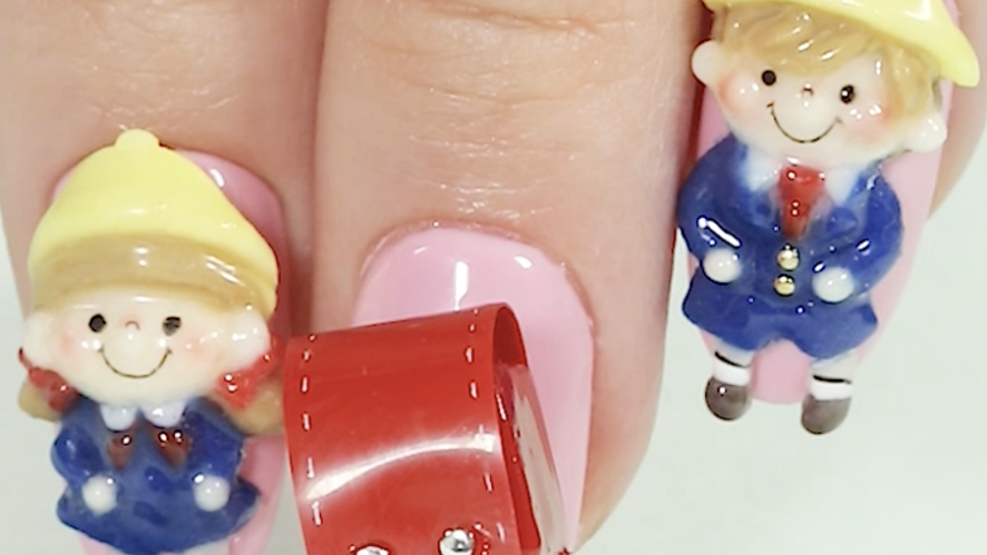 V LIVE - 3D Nail Art ! Japanese School Bag, 「Randoseru」🎒
